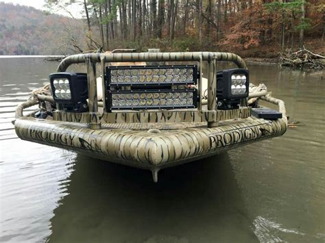 xpress boats duck blind prodigy boats now that s headlights waterfowl hunting