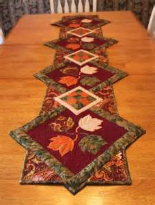 quilted delights finished fall table runner