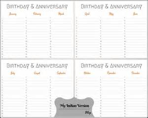 birthday and anniversary calendar template my indian version birthday anniversary calendar free
