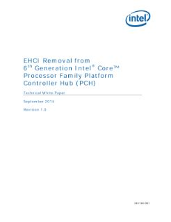 Pch Core - removing ehci from 6th gen intel 174 core processors pch white paper