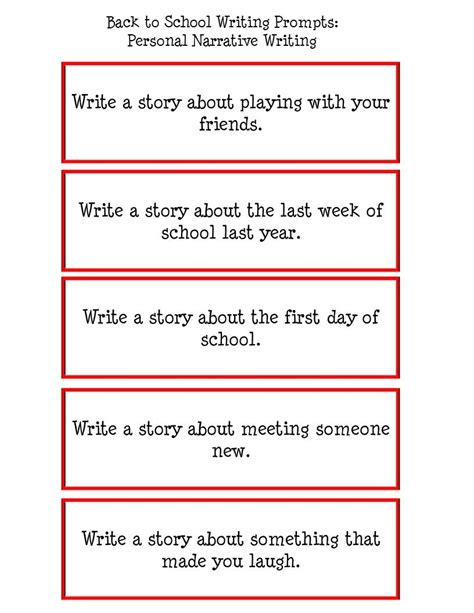 personal narrative descriptive writing rubric writing pinterest