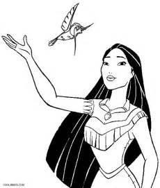 Pocahontas coloring pages printable pocahontas and john smith coloring