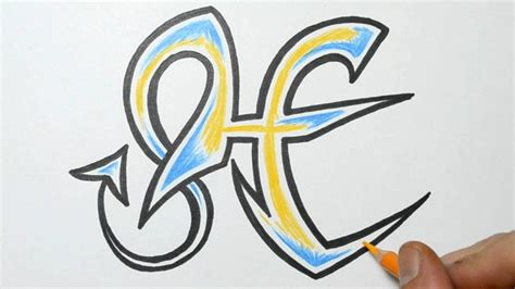 Letter H Drawing by How To Draw Graffiti Letter H