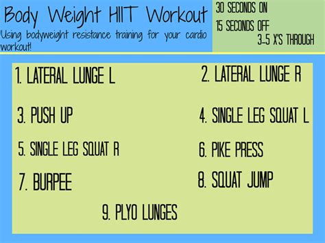 bodyweight hiit workout you can do at home with no