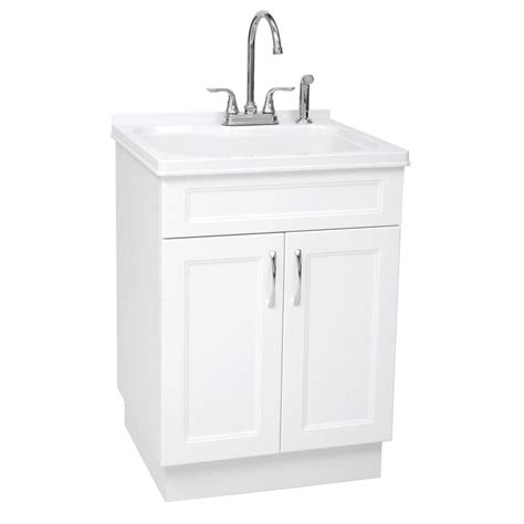 utility faucet lowes shop westinghouse 21 45 in x 24 21 in 1 basin white