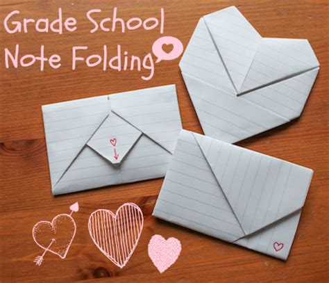 Cool Ways To Fold Paper Notes - grade school note folding a tutorial gramkin