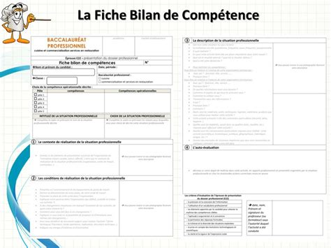 fiche bilan de comp騁ences bac pro cuisine le dossier professionnel baccalaur 233 at professionnel