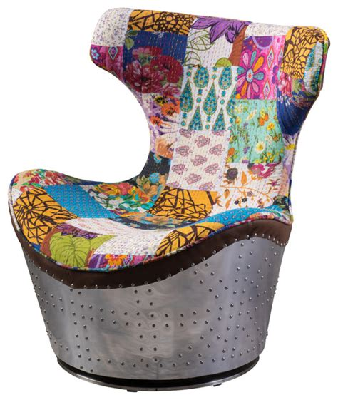 multi colored fabric dining chairs multi colored whimsical patch work fabric swivel