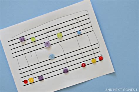 musical crafts for button note motor fridays and next comes l
