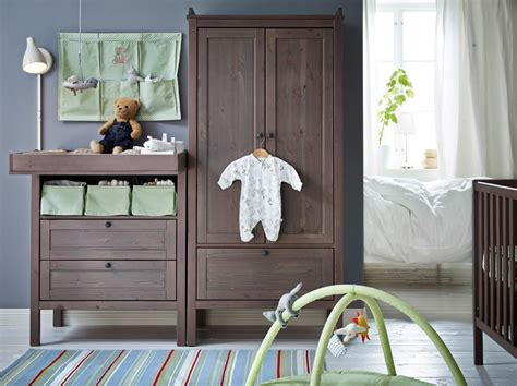 Sundvik Crib Black Brown by A Baby Room With Grey Brown Sundvik Changing Table