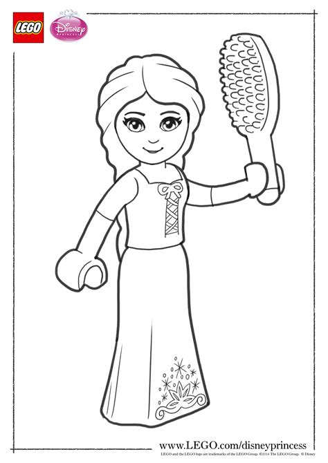 Lego Princess Coloring Pages | lego disney princess coloring pages the family brick