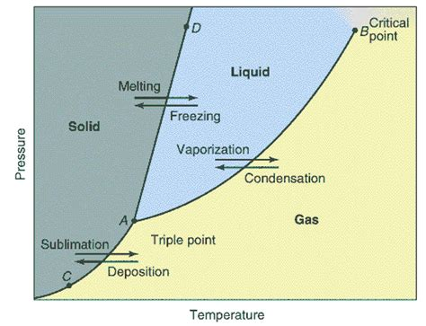phase diagram of a substance thermal properties of matter
