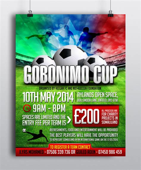 football tournament flyer template flyer design for ilyas by esolz technologies design 3619520
