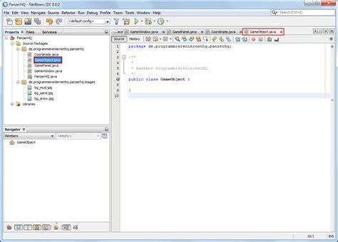Java Pattern Klasse | java spiel programmieren tutorial die spielobjekte erstellen