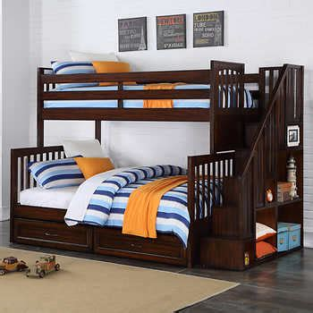 Costco Bunk Beds With Stairs Zachary Staircase Bunk Bed
