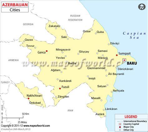 political map of azerbaijan azerbaijan cities map cities in azerbaijan