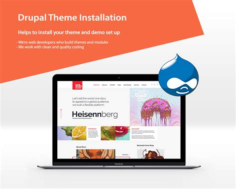 theme drupal install drupal theme installation with demo set up by victheme on