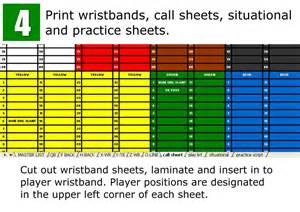 Football Wristband Template by Ez Call Play Calling System The Easiest And Most