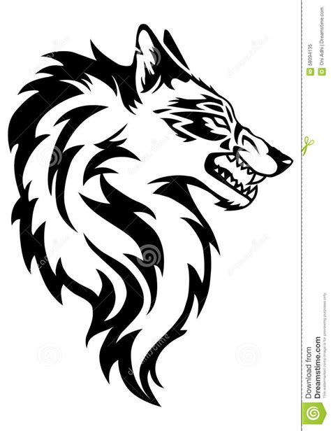 5 11 Beast Black Wolf illustration of wolf stock illustration