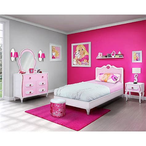 barbie bedroom barbie 4 piece bedroom in a box furniture set twin bed