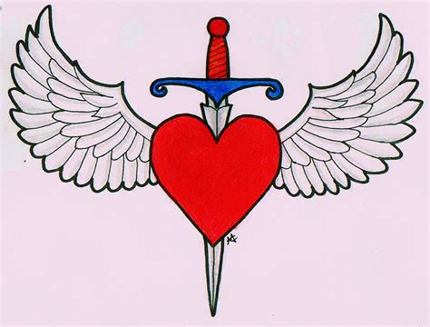 heart and dagger tattoo designs and dagger design by maddyfield on deviantart