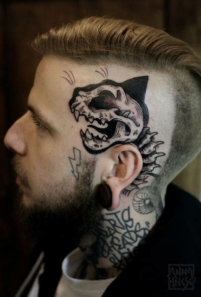 cat tattoo face man skull tattoos designs for men meanings and ideas for guys