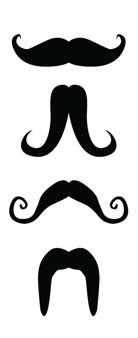 handlebar template free printable mustaches clipart best