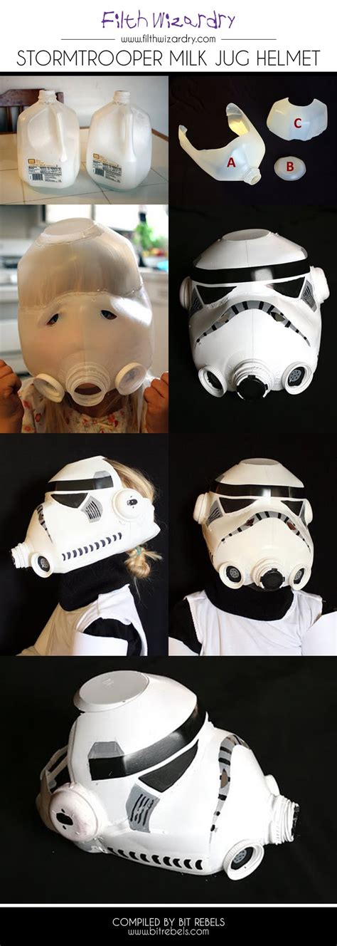 How To Make A Stormtrooper Helmet Out Of Paper - stormtrooper helmet created entirely out of a milk jug