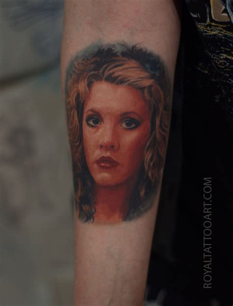 stevie nicks tattoo stevie nicks portrait nyc realistic color by royal3