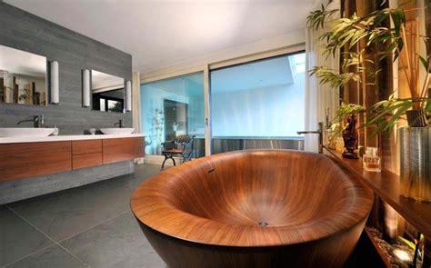 Formidable Traitement Bois Salle De Bain #6: baignoire-inspiration-zen-salle-de-bain_0.jpg