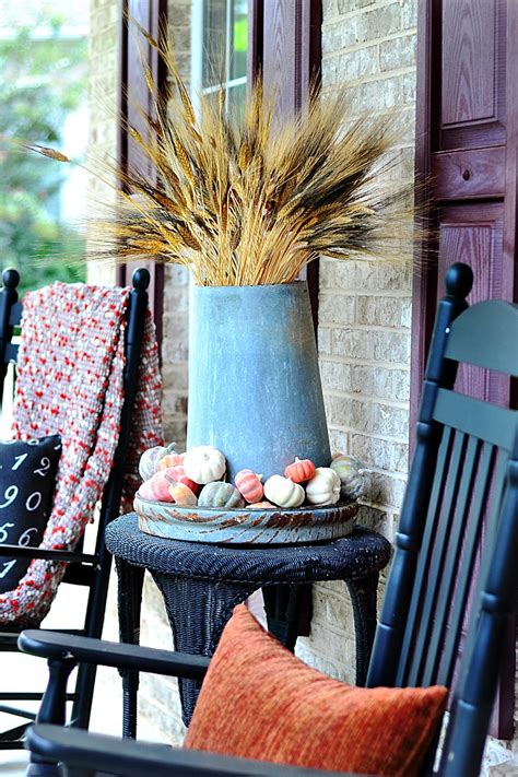 vintage home love autumn porch ideas our fall home tours finding fall bhg at the picket fence