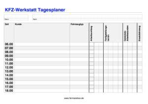 kfz werkstatt app tagesplaner f 252 r kfz werkstatt vorlagen und muster zum