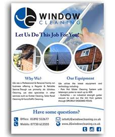 modern elegant flyer design for jg window cleaning by