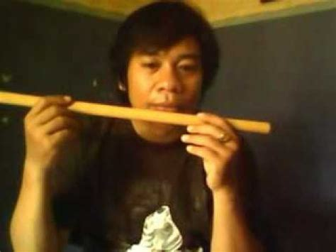 Suling Bambu Asli Bisa Bunyi cara niup suling