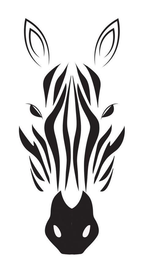 zebra tribal tattoo cool tribal zebra muzzle design tattooimages biz