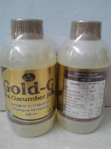 Jelly Gamat Gold G 500 Ml Jeli Gamat Goldg Gold G Original 1 jual jelly gamat gold g sea cucumber jely original 500