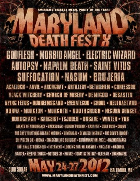 maryland deathfest map maryland deathfest 2012 all metal festivals