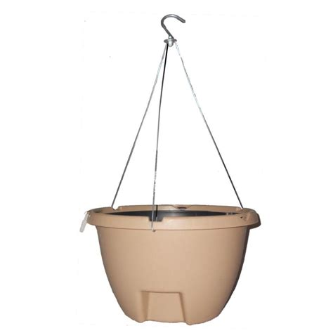 Self Watering Hanging Planters by The Weekender 16 In Sand Polypropylene Hanging Self