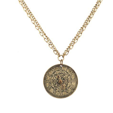 Numeral Pendant Necklace numeral clock flower pendant necklace