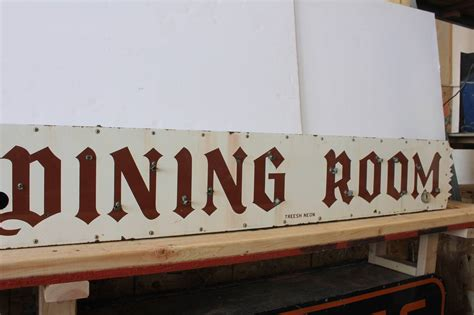 Dining Room Signs by Vintage Porcelain Dining Room Sign At 1stdibs