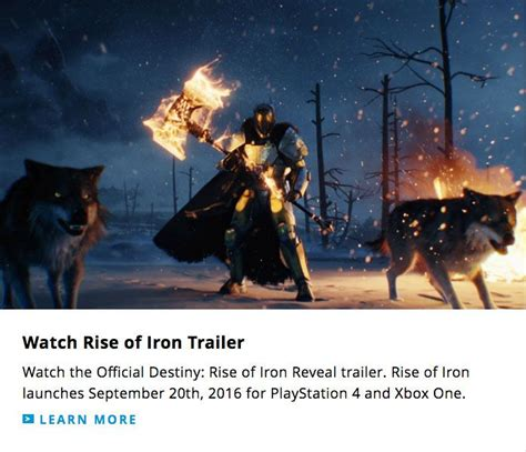 destiny rise of iron expansion release date leaked by official website apparently launches