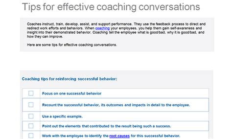 coaching templates for managers employee feedback and coaching templates uk