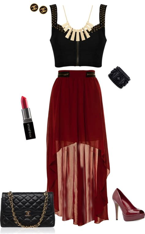 edgy cropped tops and maxi skirts on