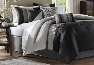 brenna black gray 7 pc king comforter set king linens