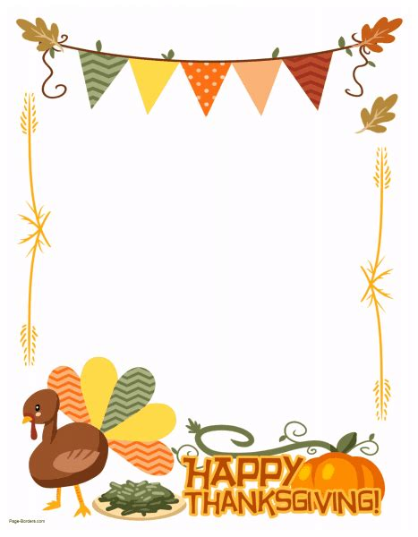 thanksgiving border clipart free thanksgiving border printables many designs available