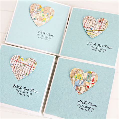 Gift Cards Melbourne Australia - 4 melbourne map cards australia souvenir with love from melbourne australia the