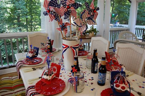July 4th Table Decorations by A Patriotic Celebration Table Setting