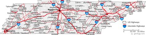 map of tennessee with cities map of tennessee cities tennessee road map