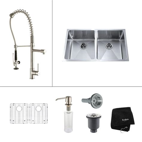 kraus stainless steel sink cleaner glacier bay dual mount stainless steel 33 in 2