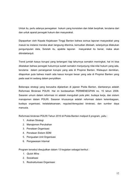 contoh laporan quick wins polri laporan akhir ekpd 2010 banten untirta
